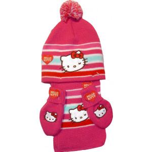 Σκουφάκι - Κασκόλ - Γάντια Hello Kitty Disney (Φουξ) (Κωδ.161.503.203)