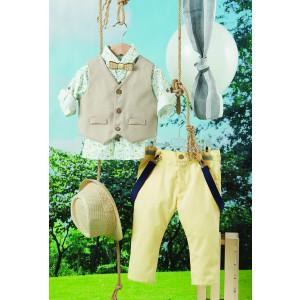 Ολοκληρωμένο πακέτο βάπτισηs με αυτό το κουστούμι (Carrousel Κωδ.269.157.309) Με βαλίτσα rain η παγκάκι θρανίo. Δωρεάν μεταφορικά
