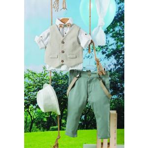 Ολοκληρωμένο πακέτο βάπτισηs με αυτό το κουστούμι (Carrousel Κωδ.256.106.306) Με βαλίτσα rain η παγκάκι θρανίo. Δωρεάν μεταφορικά