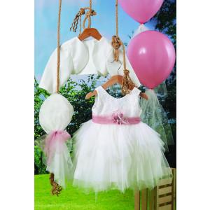 Ολοκληρωμένο πακέτο βάπτισηs με αυτό το φόρεμα (Carrousel #713-1#) Με βαλίτσα rain η παγκάκι θρανίο Δωρεάν μεταφορικά!