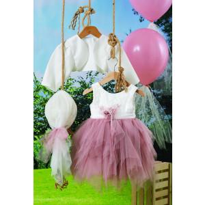 Ολοκληρωμένο πακέτο βάπτισηs με αυτό το φόρεμα (Carrousel #713-2#) Με βαλίτσα rain η παγκάκι θρανίο Δωρεάν μεταφορικά!