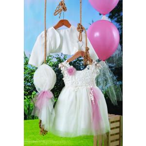 Ολοκληρωμένο πακέτο βάπτισηs με αυτό το φόρεμα (Carrousel #710-1#) Με βαλίτσα rain η παγκάκι θρανίο Δωρεάν μεταφορικά!