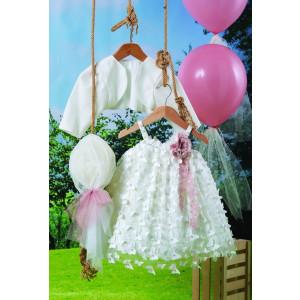Ολοκληρωμένο πακέτο βάπτισηs με αυτό το φόρεμα (Carrousel #705-1#) Με βαλίτσα rain η παγκάκι θρανίο Δωρεάν μεταφορικά!
