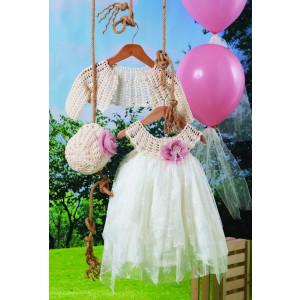 Ολοκληρωμένο πακέτο βάπτισηs με αυτό το φόρεμα (Carrousel #719-1#) Με βαλίτσα rain η παγκάκι θρανίο Δωρεάν μεταφορικά!