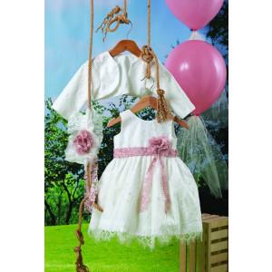 Ολοκληρωμένο πακέτο βάπτισηs με αυτό το φόρεμα (Carrousel #707-1#) Με βαλίτσα rain η παγκάκι θρανίο Δωρεάν μεταφορικά!