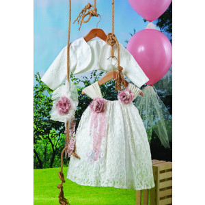 Ολοκληρωμένο πακέτο βάπτισηs με αυτό το φόρεμα (Carrousel #706-1#) Με βαλίτσα rain η παγκάκι θρανίο Δωρεάν μεταφορικά!