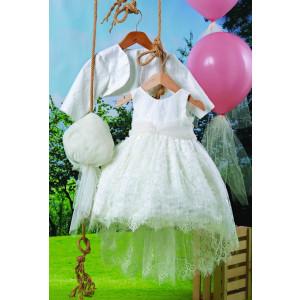Ολοκληρωμένο πακέτο βάπτισηs με αυτό το φόρεμα (Carrousel #702-1#) Με βαλίτσα rain η παγκάκι θρανίο Δωρεάν μεταφορικά!