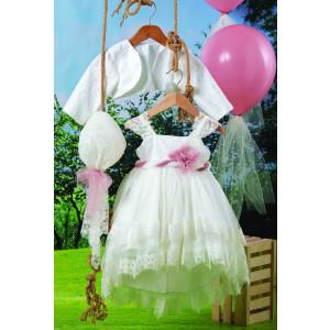 Ολοκληρωμένο πακέτο βάπτισηs με αυτό το φόρεμα (Carrousel #510-1#) Με βαλίτσα rain η παγκάκι θρανίο Δωρεάν μεταφορικά!