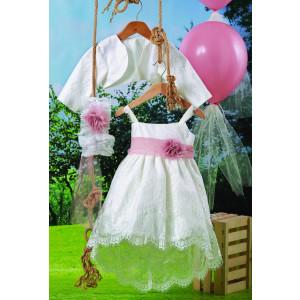 Ολοκληρωμένο πακέτο βάπτισηs με αυτό το φόρεμα (Carrousel #714-1#) Με βαλίτσα rain η παγκάκι θρανίο Δωρεάν μεταφορικά!
