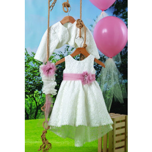 Ολοκληρωμένο πακέτο βάπτισηs με αυτό το φόρεμα (Carrousel #520-1#) Με βαλίτσα rain η παγκάκι θρανίο Δωρεάν μεταφορικά!