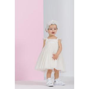 Ολοκληρωμένο πακέτο βάπτισηs με αυτό το Φόρεμα (Vanessa Cardui Κωδ.25429-105-215) Δώρο το κουτί