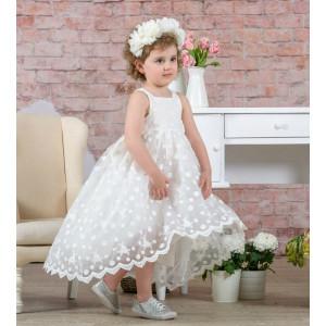 Ολοκληρωμένο πακέτο βάπτισηs με αυτό το φόρεμα (Neonato Κωδ.4950-140-250) Με βαλίτσα rain η παγκάκι θρανίο προσφορά!!!!!!!