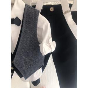 Ολοκληρωμένο πακέτο βάπτισηs με αυτό το κουστούμι Dolce Bambini (Κωδ. Vincent-135-245) Με το κουτί