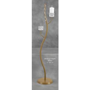 Λαμπάδα Φωτιστικό Έλατος με Παγάκι (Κωδ.85063) (Η τιμή αφορά 2 Τεμάχια)