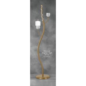 Λαμπάδα Φωτιστικό Έλατος με Ανάγλυφο Γυαλί (Κωδ.81063) (Η τιμή αφορά 2 Τεμάχια)