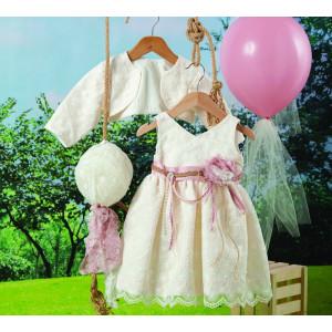 Ολοκληρωμένο πακέτο βάπτισηs με αυτό το φόρεμα (Carrousel #709-1#) Με βαλίτσα rain η παγκάκι θρανίο Δωρεάν μεταφορικά!