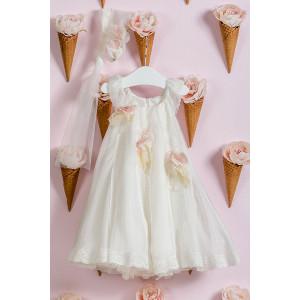 Ολοκληρωμένο πακέτο βάπτισηs με αυτό το φόρεμα (Vanessa Cardui Κωδ.VK142-100-240) Με το κουτί