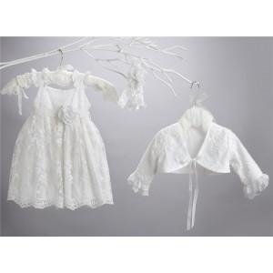 Ολοκληρωμένο πακέτο σετ βάπτισης με αυτό το φόρεμα New Life  2414-1 narlis.gr