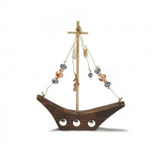 Καράβι ξύλινο με κρύσταλα 1430135