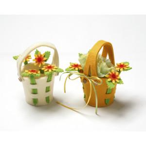 Τσόχα κουβαδάκι με λουλούδια (16Χ9εκ) 801120