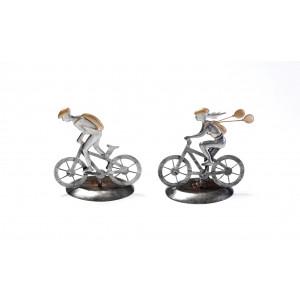 Ποδηλάτες αγόρι κορίτσι μεταλλική 1313195