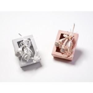 Παπουτσάκια πουέντ ροζ λευκές 639150