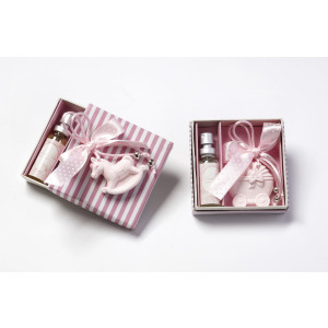 Κεραμικό σετ με αρωματάκια ροζ λιλά 1420155
