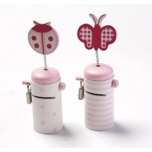 Κουμπαράς ροζ πασχαλίτσα πεταλούδα 1218125