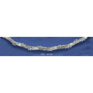 Στέφανα ασημένια με swarovski 579(56300)